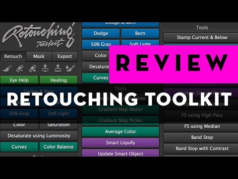 RETOUCHING TOOLKIT BEST Photoshop EXTENSION for retouching