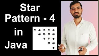 Star Pattern - 4 Program (Logic) in Java by Deepak