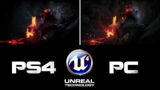 Unreal Engine 4 - PS4 VS PC - Todops4.com - PS4 - Playstaiton 4