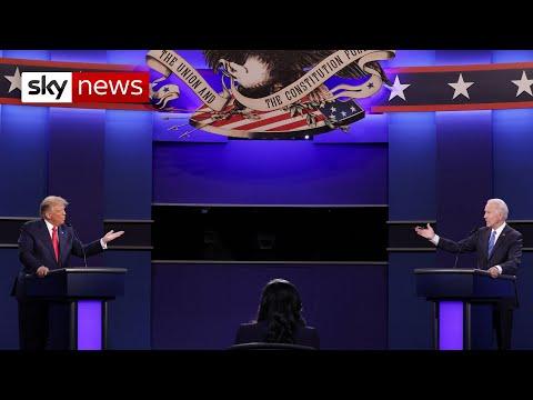 Trump and Biden face off in final US presidential debate - highlights