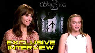Francis O'Connor & Madison Wolfe Exclusive Interview - THE CONJURING 2 (JoBlo.com) by JoBlo Movie Trailers