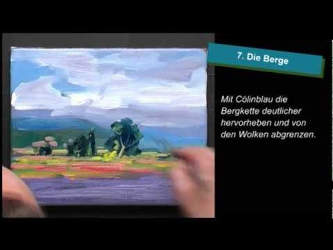 Bettags-Malschule – Einfache Landschaft mit Ölfarben