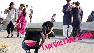 Video CHaddi prank on Girls (funny reaction)😂😲 MP3, 3GP, MP4, WEBM, AVI, FLV April 2018