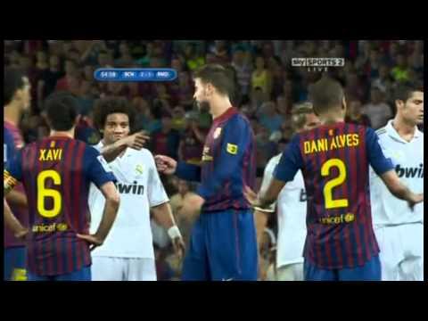 marcelo appreciating mourinho's gesture against messi (видео)
