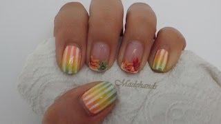 Hola chicas!!!este vídeo es una decoración de uñas de otoño en la que vamos a hacer un degradado y unas hojas de colores naturales  de esta epoca.Artista:josh woowardmusica: pompeii