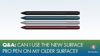 I got some great questions on my Surface Pro review a few weeks back. A lot of folks wanted to know more about the backwards compatibility of the pen and also about using Adobe Animate, I guess there were some problems on older Surface devices.-----------------------------------------------------GET MY PROCREATE COURSE FOR $10https://www.udemy.com/drawing-and-painting-on-the-ipad-with-procreate/?couponCode=COMICCOLORINGGET MY INFINITE PAINTER COURSE FOR $10https://www.udemy.com/drawing-on-android-using-infinite-painter/?couponCode=IPYOUTUBE50-----------------------------------------------------My Drawing Gear:Surface Pro 3 - https://alexa.design/2nyx5YGiPad Pro - https://alexa.design/2oSdp1RAdobe Photoshop and Illustrator- http://adobe.comAstropad - http://astropad.com/Procreate - http://procreate.art/Kyle's Brushes for Photoshop - https://www.kylebrush.com/My Video Gear: Camera - iPhone 6 (yeah, I know, but it works)iRig (connects mic to phone): https://alexa.design/2nyE6bNMic: Audio-Technica ATR2100-USB: https://alexa.design/2oYRZQnGrip tight phone mount: https://alexa.design/2nyFyLtRing Light: https://alexa.design/2orOaThTiny lil tripod thingy: https://alexa.design/2nW3fIFMy Twitter: https://twitter.com/bradcolbowMy Patreon: https://www.patreon.com/bradcolbowMy Drawing and video gear: http://bradcolbow.com/mygear/Sign up for the newsletter:http://whichdrawingtablet.com/newsletter-signup/