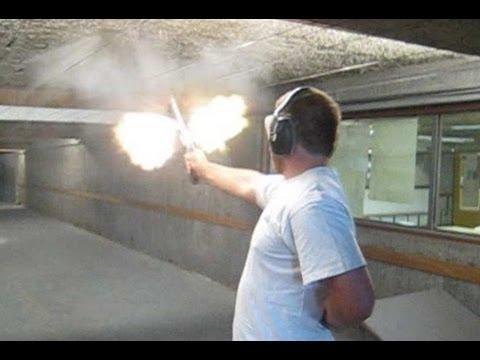 """(Real Gun) """"Bump firing"""" the S&W M500"""