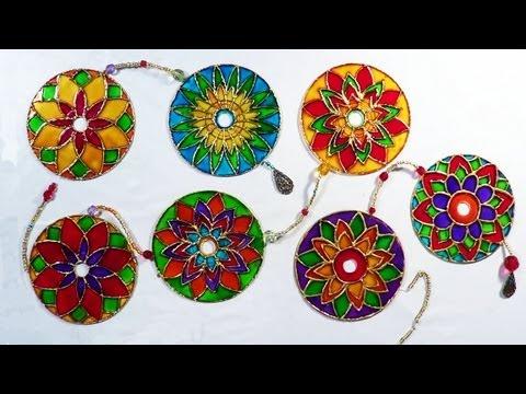 DIY - Mandala com CD - Mandala with CD