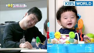 Video Daddy Hyunbin cares for 8-month-old Hajun for the first time [The Return of Superman/2018.03.04] MP3, 3GP, MP4, WEBM, AVI, FLV Juni 2019