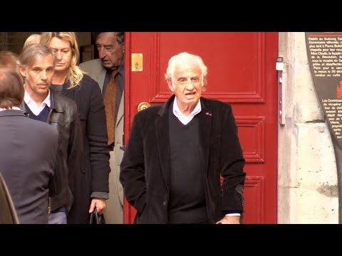 Jean Paul Belmondo aux obseques de Jean Rochefort a Paris