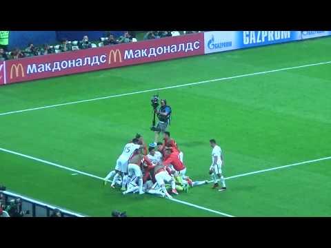Серия пенальти в полуфинальном матче Кубка Конфедераций.