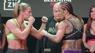 Bellator 238: Julia Budd vs. Cris Cyborg Weigh-In Staredown - MMA Fighting by MMA Fighting