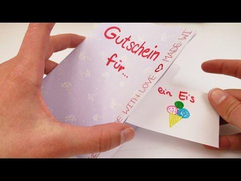 Karte basteln mit Gutscheinen zum rausreißen | einfach ...