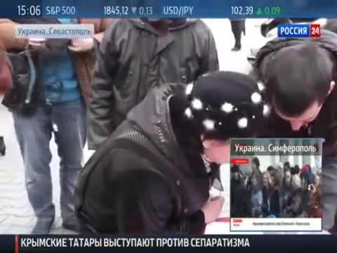 ▶ В Севастополе новая власть,Крым,Симферополь,Столкновения,Драка,Стычки,Майдан (видео)