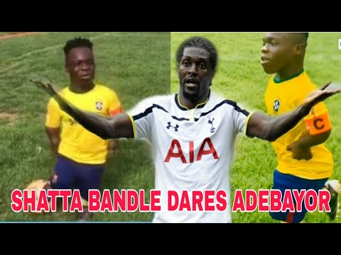 SHATTA BANDLE DISPLAYS HIS FOOTBALL SKILLS DARES ADEBAYOR