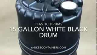 15 gallon black plastic drum X rated