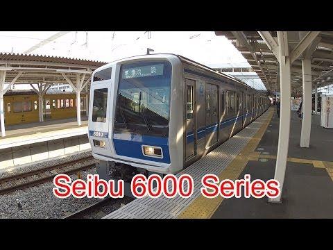 Japan Railway, Seibu Ikebukuro Line, 6000 Series, 6010, Tokorozawa Station, 11/28/2013 (видео)