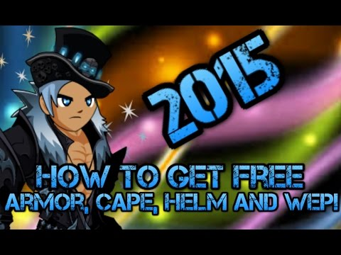 =AQW= How To Get A Cool Non-Member Armor, Weapon, Helm And Cape 2015
