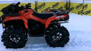 8. 2012 Canam Outlander 1000 NON XT, Turned into a Lean Mean Mud Machine