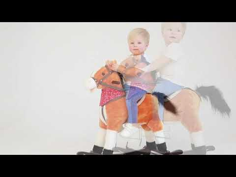 Лошадка каталка-качалка AMAROBABY (West), видео