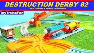 Video Thomas & Friends Destruction Derby #82 - Trackmaster toy trains competition with many accidents. MP3, 3GP, MP4, WEBM, AVI, FLV Juni 2018