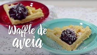 Experimente – Waffle de aveia com calda de cacau