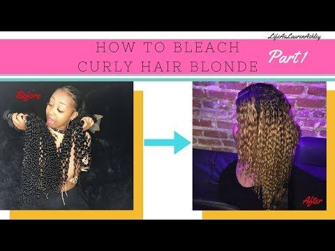 How to BLEACH Hair from Black to BLONDE| Curly Hair Approved