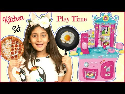 Anantya & Lavanya PRETEND PLAY Cooking With Minnie's Kitchen Set .. | #MyMissAnand #ToyStars