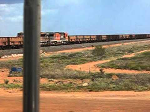 Jules Pilbara WA Iron Ore train. movie  001.avi