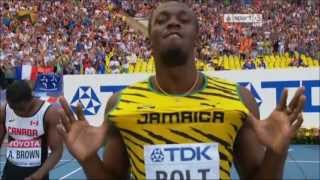 Usain Bolt Semi Final 100M World Athletics Championships Moscow 11/08/2013
