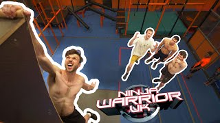 Can CLIMBERS beat NINJA WARRIOR course record? 🧗♂️ by Bouldering Bobat