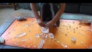 8 year old kid uses crystal grids transmute negative energy