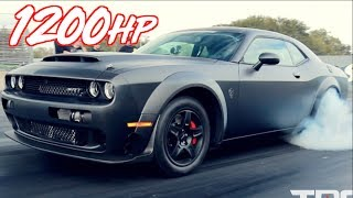 Carbon Fiber Twin Turbo Dodge Demon -  1200HP on Stock Engine! by  That Racing Channel