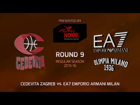 Highlights: RS Round 9, Cedevita Zagreb 82-85 EA7 Milan