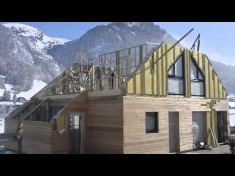Prefabricated kit eco house in the French Alps