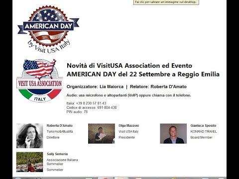 Video Novità di VisitUSA Association ed Evento AMERICAN DAY del 22 Settembre (6-9-2018)