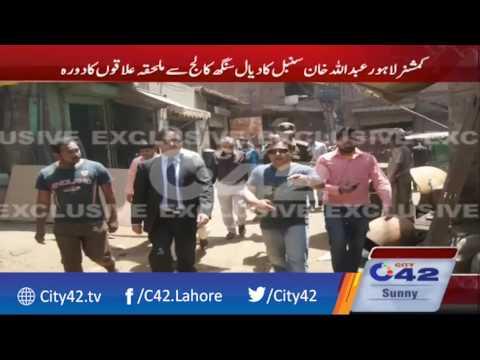 عبداللہ خان سنبل نے آبادیوں میں جاری سیوریج سکیموں کا جائزہ لیا