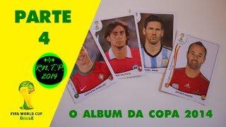 Especial - Copa do Mundo FIFA Brasil 2014Quarta parte sobre o meu álbum da copa 2014.Se você quiser ter o Álbum, é só procurar em qualquer Banca de Jornal.O Álbum custa R$ 5,90, e cada pacote com 5 figurinhas, custa R$ 1,00.