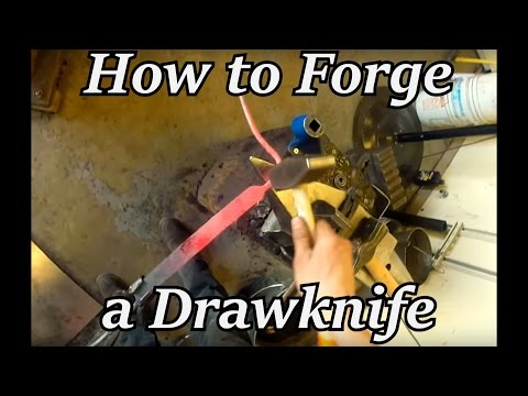 Blacksmithing - How to Forge a Draw Knife