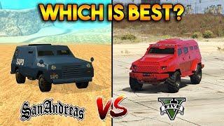 Video GTA 5 INSURGENT VS GTA SAN ANDREAS FBI TRUCK : WHICH IS BEST? MP3, 3GP, MP4, WEBM, AVI, FLV September 2019
