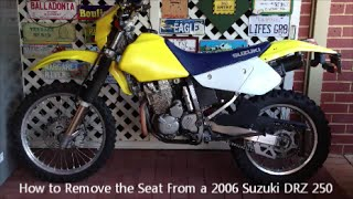 8. How to Remove the Seat From a 2006 Suzuki DRZ 250