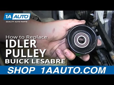 How To Install replace Squeaking Serpentine Belt Tensioner Pulley 1997-99 Buick Lesabre