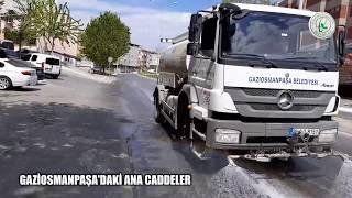 Gaziosmanpaşa'daki Ana Caddeleri Dezenfekte Çalışmaları