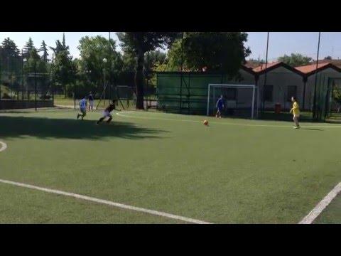 2 vs 1 con giro sul cono + sovrapposizione - Apprendiamo Calcio