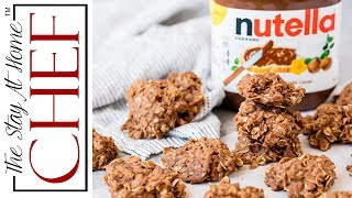"""Classic no bake cookies get a Nutella twist in these Peanut Butter Nutella No Bake Cookies. Nutella lovers will go crazy over these super easy cookies. ________________________________________↓↓↓↓↓↓ CLICK FOR RECIPE ↓↓↓↓↓↓↓↓ _______________________________________Peanut Butter Nutella No Bake Cookies INGREDIENTS 1 cup sugar4 tablespoons salted butter1/4 cup milk1/4 cup creamy peanut butter1/4 cup Nutella1 1/2 tsp vanilla extract2 cups old fashioned rolled oats   INSTRUCTIONS 1. In a medium-sized saucepan, combining the sugar, butter and milk. Bring to a boil over medium-high heat while stirring constantly. 2. Once boiling, remove from heat and stir in the peanut butter, Nutella, and vanilla until smooth. 3. Add in the oatmeal and stir until well combined. 4. Drop by the spoonful onto wax paper and let cool.       Thanks for watching! Don't forget to push """"LIKE,"""" leave a COMMENT below, and SUBSCRIBE! Feel free to SHARE this video too. PRINTABLE RECIPE: http://thestayathomechef.com/peanut-butter-nutella-no-bake-cookiesSUBSCRIBE to my channel: http://youtube.com/thestayhomechefFACEBOOK: https://www.facebook.com/TheStayAtHomeChef/INSTAGRAM: https://instagram.com/thestayathomechef/PINTEREST: https://www.pinterest.com/stayathomechef/TWITTER: https://twitter.com/thestayhomechefCONTACT ME: stayathomechefblog@gmail.com Carefree by Kevin MacLeod is licensed under a Creative Commons Attribution license (https://creativecommons.org/licenses/...)Source: http://incompetech.com/music/royalty-...Artist: http://incompetech.com/"""