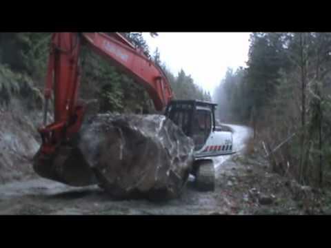 Wrestling a big Rock