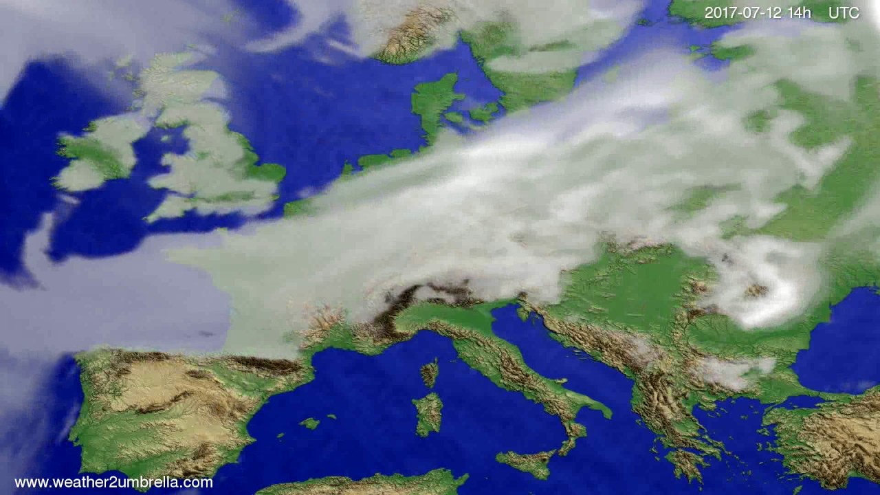Cloud forecast Europe 2017-07-08