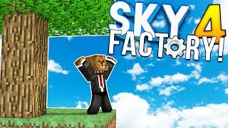 OUR MOB SPAWNER BLEW UP!? - Minecraft SKY FACTORY 4 (FTB Feed The Beast) #4