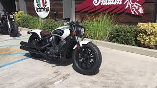9. 2019 Indian Scout Bobber ABS in White Smoke for Sale in Orange County, CA