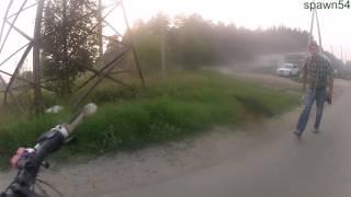 Велосипедист VS собака